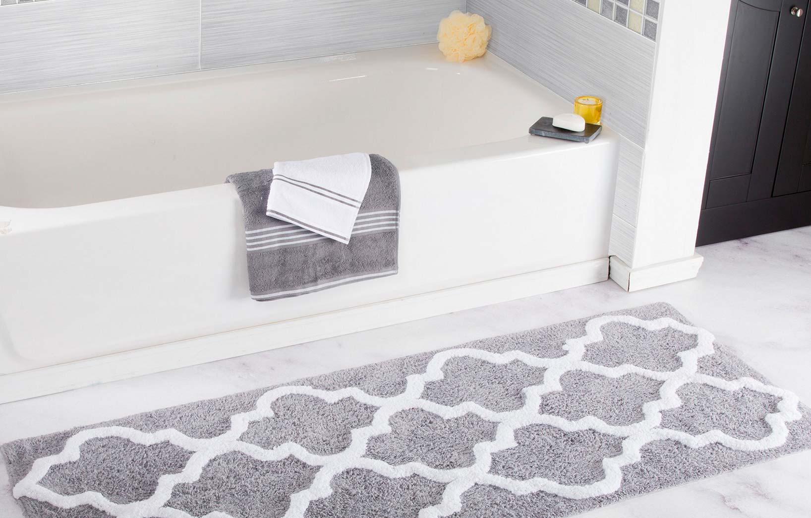 Серый текстиль для ванной