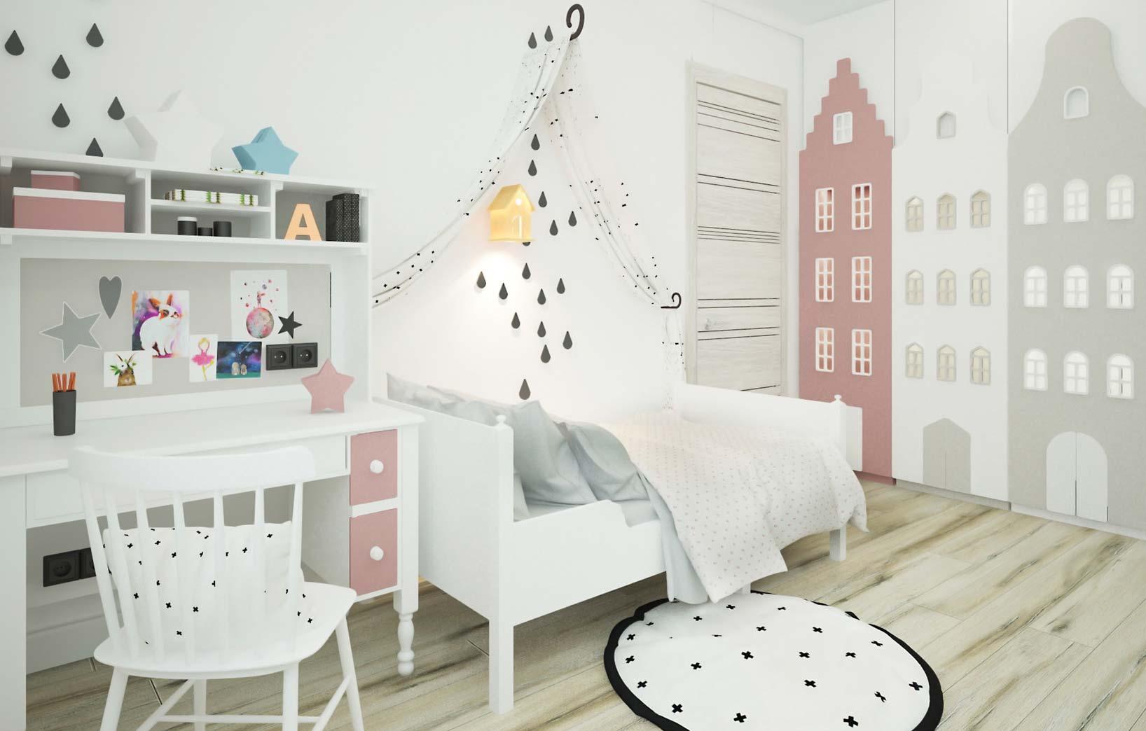 Шведский дизайн детской комнаты