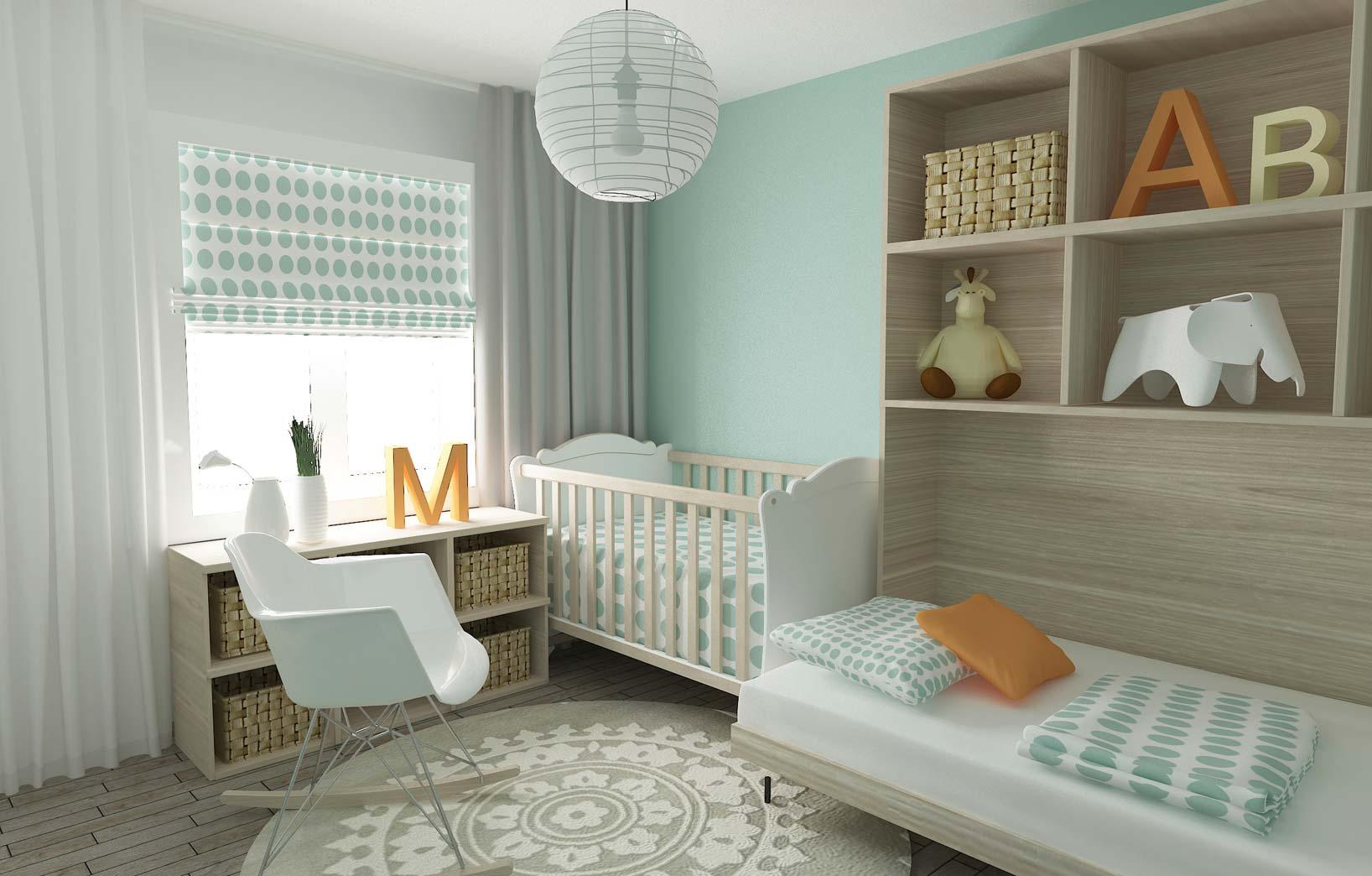 Голубая комната для новорождённого