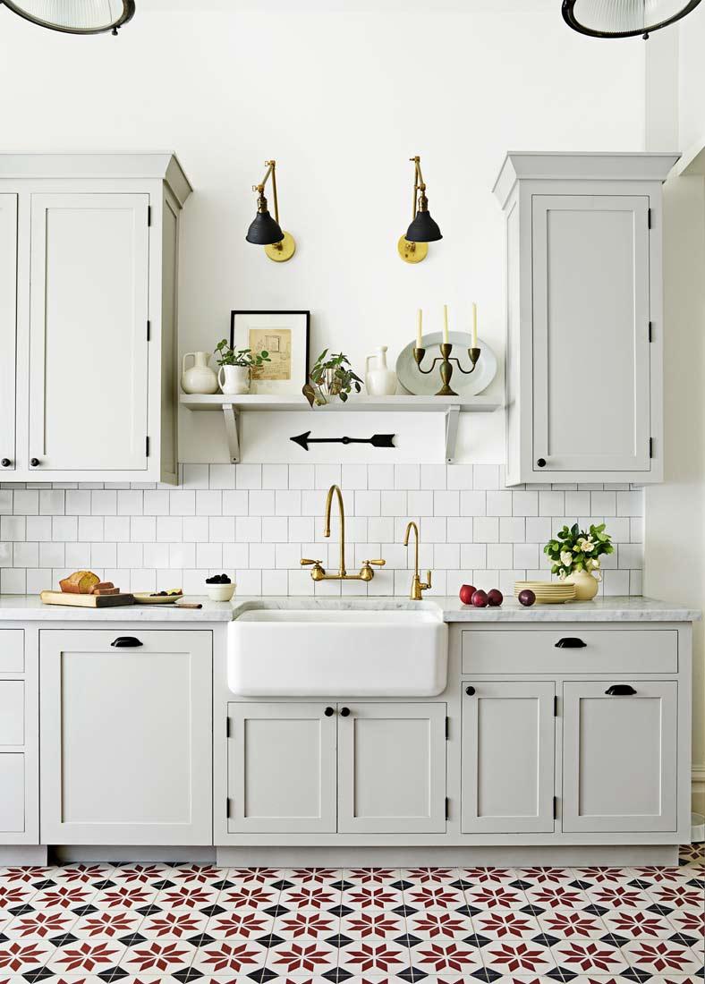Цветная плитка на кухне