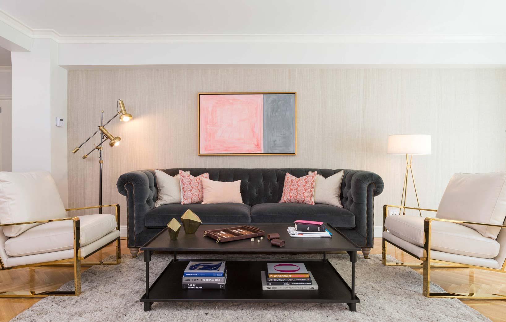 Классический серый диван