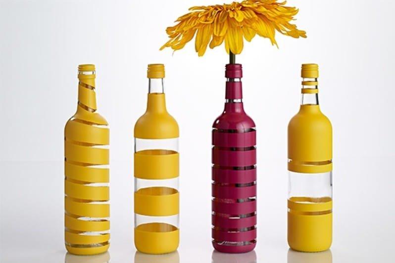 Вазы из бутылки: роспись, декор, обрезка (3 мк и 45 фото)