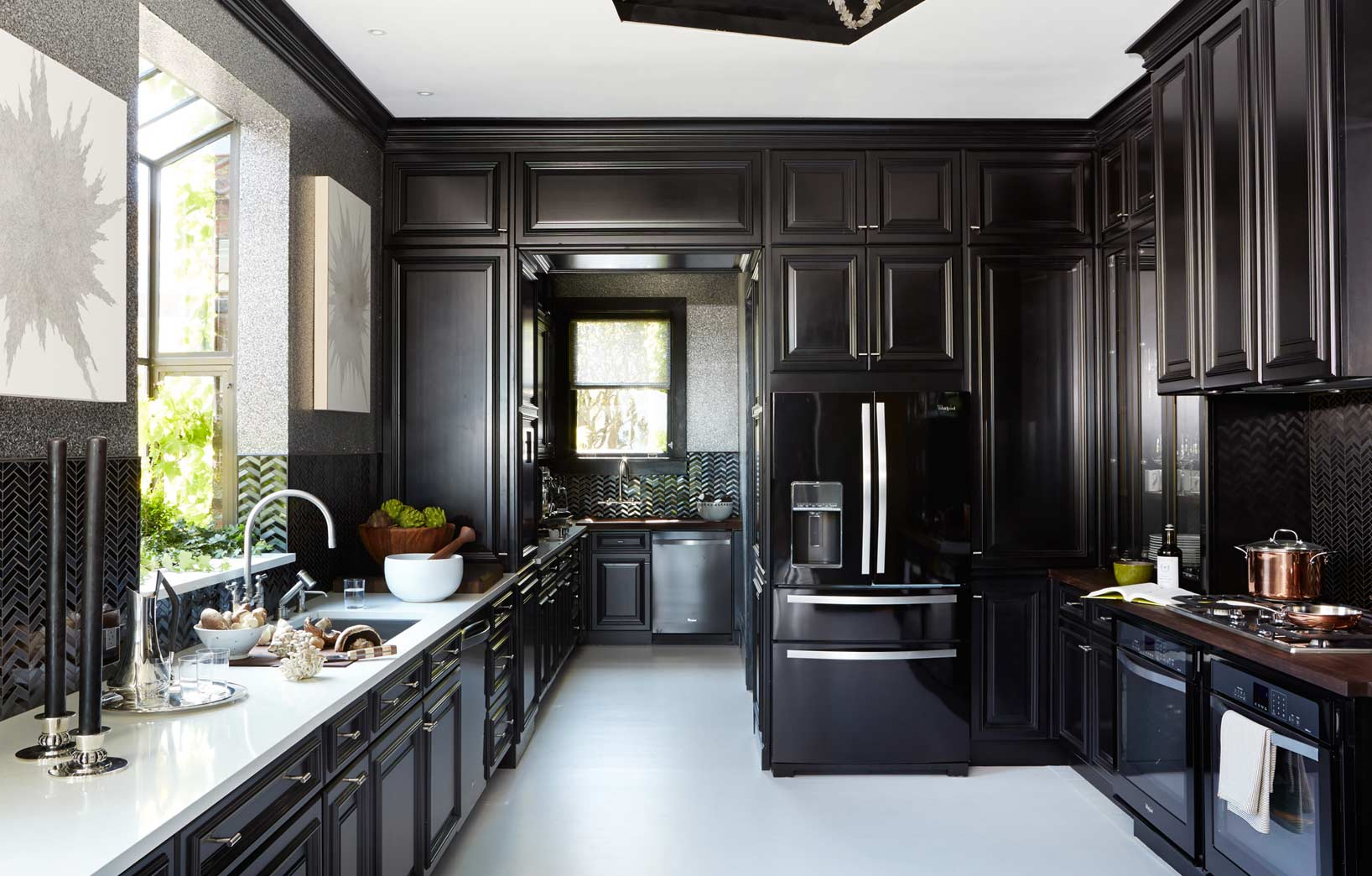 Photos of black cabinets Kitchen